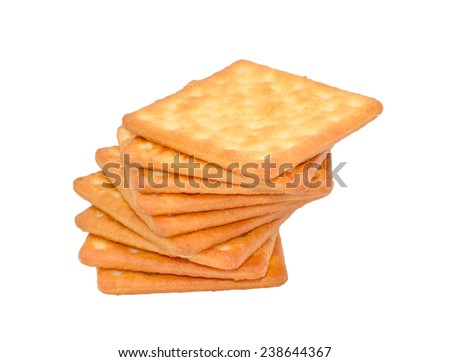 cracker biscuit isolated on white background