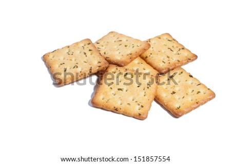 Cracker isolated on white background - stock photo