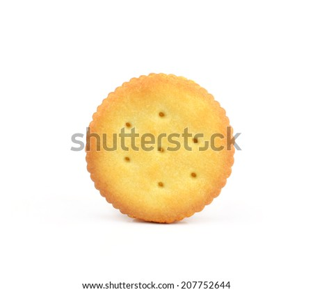Cracker Isolated on White with Clipping Path - stock photo