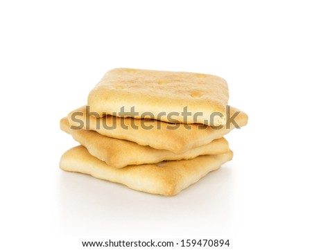 Crackers, isolated on white