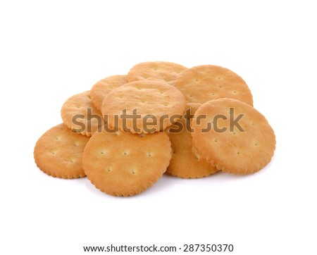 crackers isolated on white  - stock photo