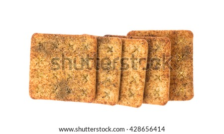 crackers snack bread isolated on a white background