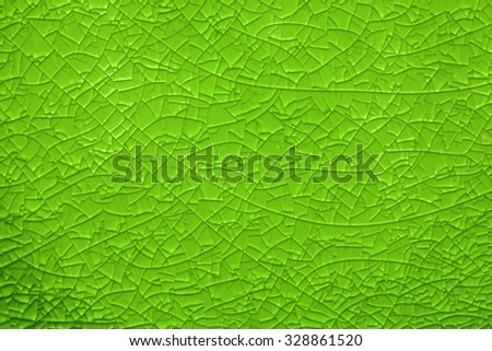 crackled glass background with line network, man made background - stock photo