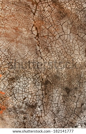 Crackled wall plaster texture