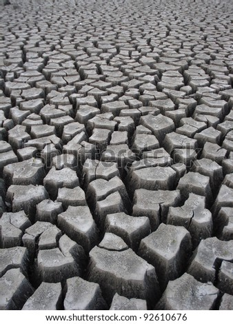 Crackling Dry Earth From Drought - stock photo
