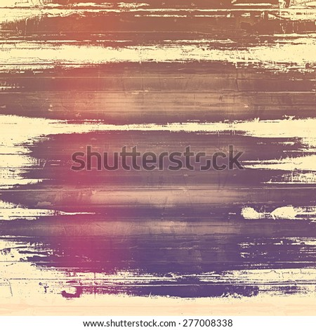 Cracks and stains on a vintage textured background. With different color patterns: brown; purple (violet); yellow (beige); pink - stock photo