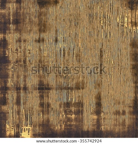 Cracks and stains on a vintage textured background. With different color patterns: yellow (beige); brown; gray; black - stock photo