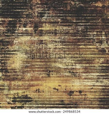 Cracks and stains on a vintage textured . With different color patterns: yellow (beige); brown; gray; black - stock photo