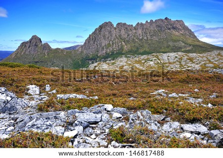 Cradle Mountain National Park, Tasmania, Australia - stock photo