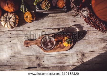 Craft Beer Flight (Halloween Season) - stock photo
