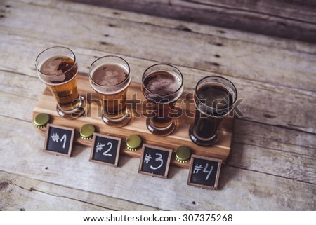 Craft Beer Tasting  - stock photo