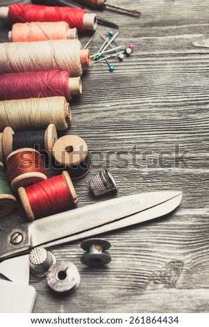 Craft, sewing, tailoring. - stock photo
