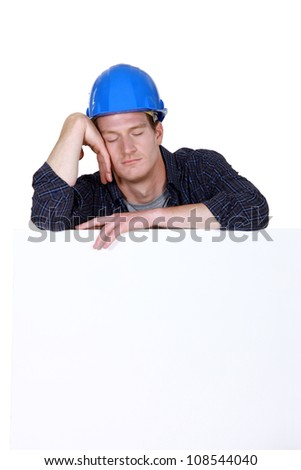 craftsman sleeping - stock photo
