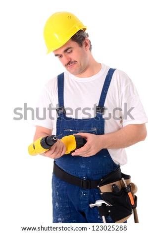 Craftsmen, laborers, mechanic - Portrait of a craftsman - stock photo