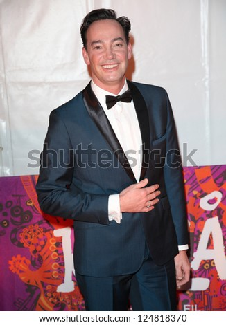 Craig Revel Horwood arriving for the press night of Cirque Du Soleil's Kooza, at The Royal Albert Hall, London. 08/01/2013.  Picture by: Alexandra Glen - stock photo
