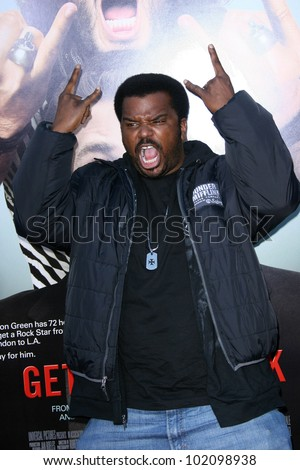 "Craig Robinson  at the ""Get Him To The Greek"" Los Angeles Premiere, Greek Theater, Los Angeles, CA. 05-25-10 - stock photo"