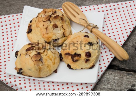 Cranberey Scone  with peanut and almond , close up