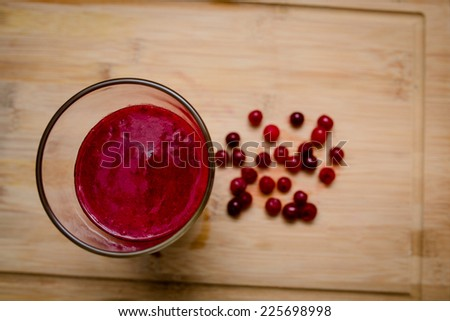 cranberries smoothie health  - stock photo