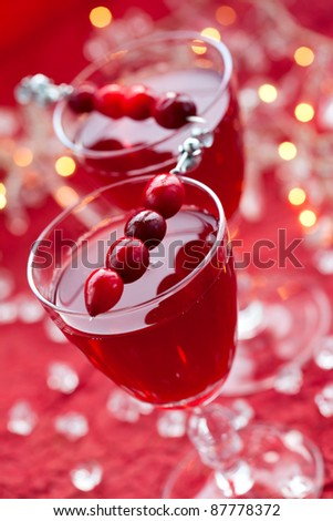 cranberry drink for Christmas - stock photo