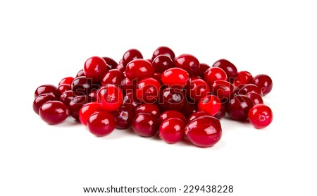 Cranberry isolated - stock photo