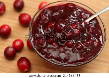 Cranberry sauce. - stock photo