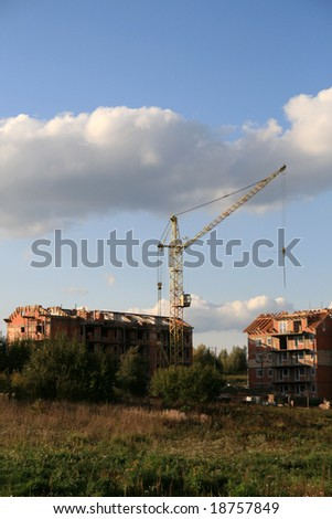 crane and new block is under construction