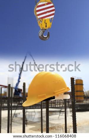 crane background - stock photo