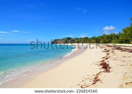 Crane beach, Barbados  - stock photo