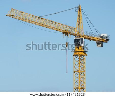 crane construction - stock photo