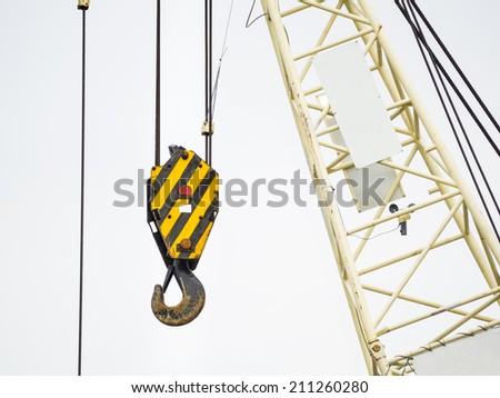 crane hook on white background - stock photo