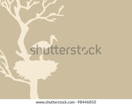 crane in jack on brown background - stock photo