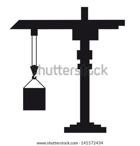 Crane lifts the load - stock photo
