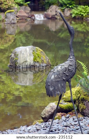 Portland japanese garden stock images royalty free images for Garden statues portland oregon
