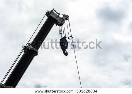 crane truck - stock photo