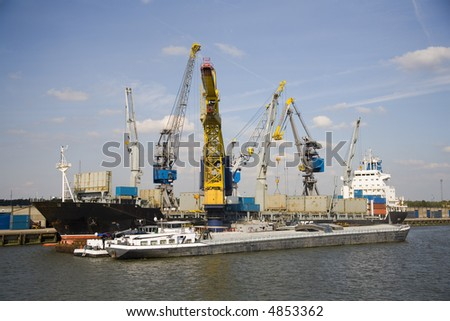 Cranes and carriers 11 - stock photo