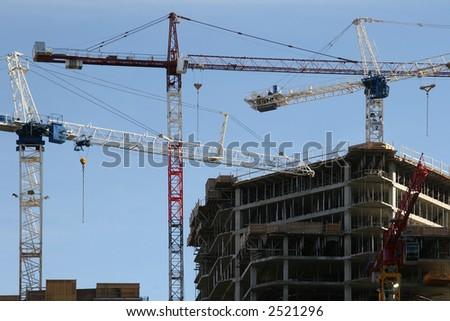 Cranes & Constructions - stock photo