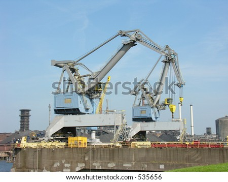 cranes in a harbour
