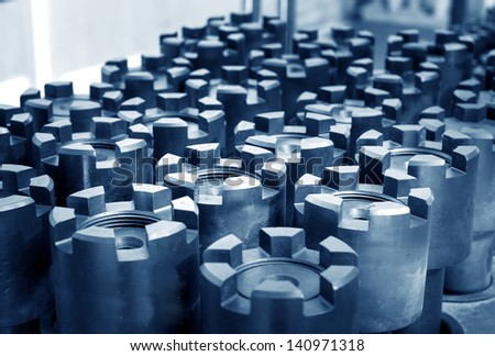 Crankshaft gear above the mechanical - stock photo