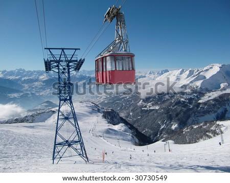 Crans-Montana Switzerland - stock photo