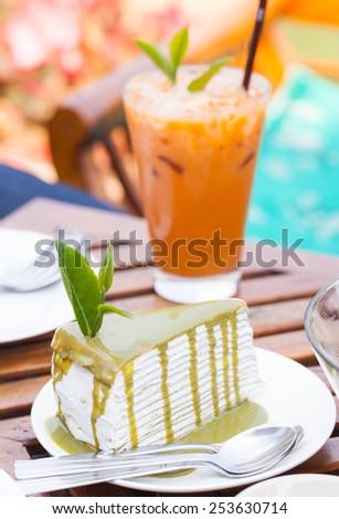 crape cake - stock photo