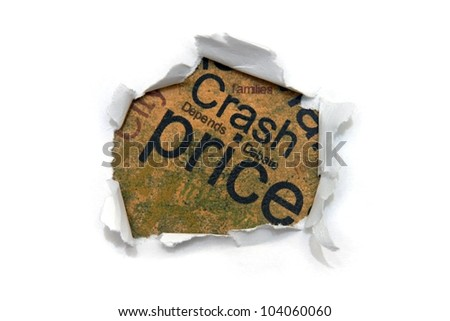 Crash price - stock photo