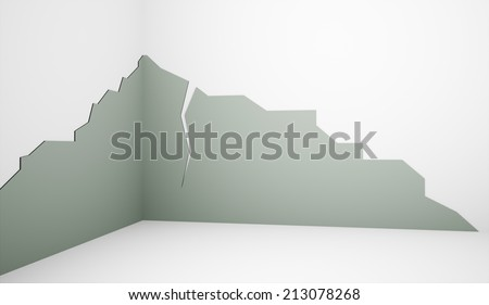 Crashed wall concept - stock photo