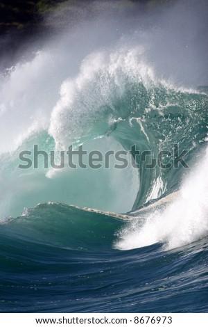 crashing wave - stock photo