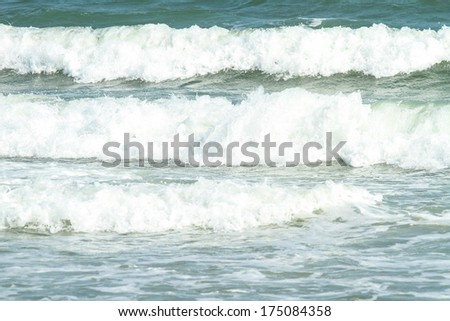 Crashing waves in the ocean - stock photo