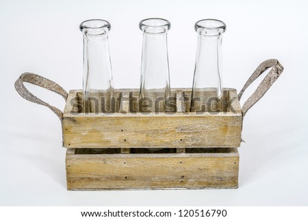 crate with bottles - stock photo