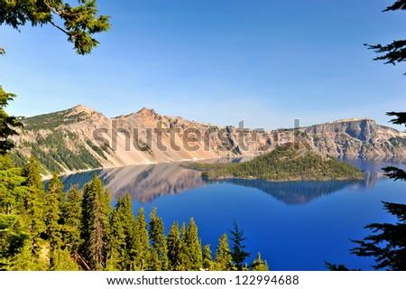 Crater Lake - stock photo