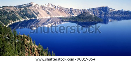 Crater Lake in Oregon - stock photo
