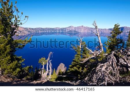 Crater Lake National Park, Oregon, United States - stock photo