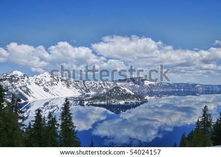 Crater Lake, Oregon, CA - stock photo