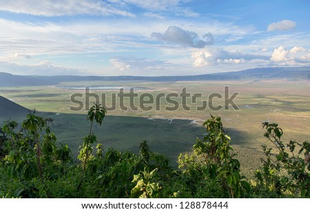 Crater Ngorongoro National Park - Tanzania, East Africa - stock photo
